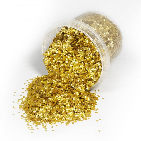 Gold Edible Glitter Squares - 7g