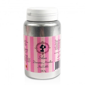 Claire Bowman (Cake Lace) - Silver Decorative Metallic Dust - 28.3g