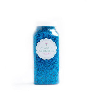 Sprinkles - Bright Blue Crunchy Sprinkles - 4 oz