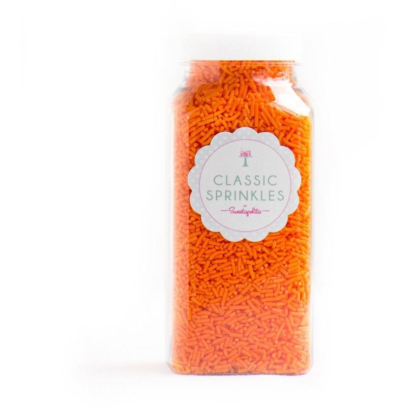 Sprinkles - Orange Crunchy Sprinkles - 4 oz