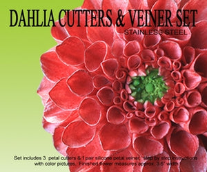 Dahlia Cutters & Veiner Set