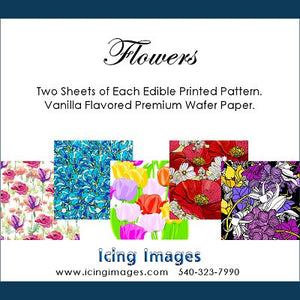 Flowers Pre-Printed Wafer Paper