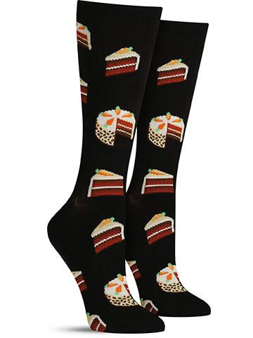 Women's Carrot Cake Socks - Black
