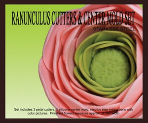 Ranunculus Cutters & Centre Mould Set