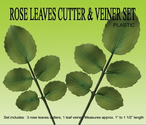 Rose Leaf Cutter & Veiner Set