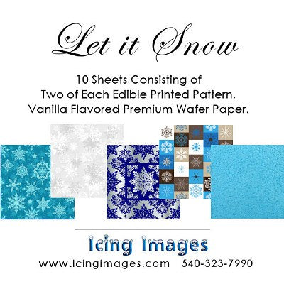 Let it Snow Pre-Printed Wafer Paper