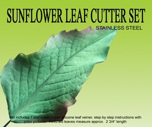 Sunflower Leaf Cutter & Veiner Set