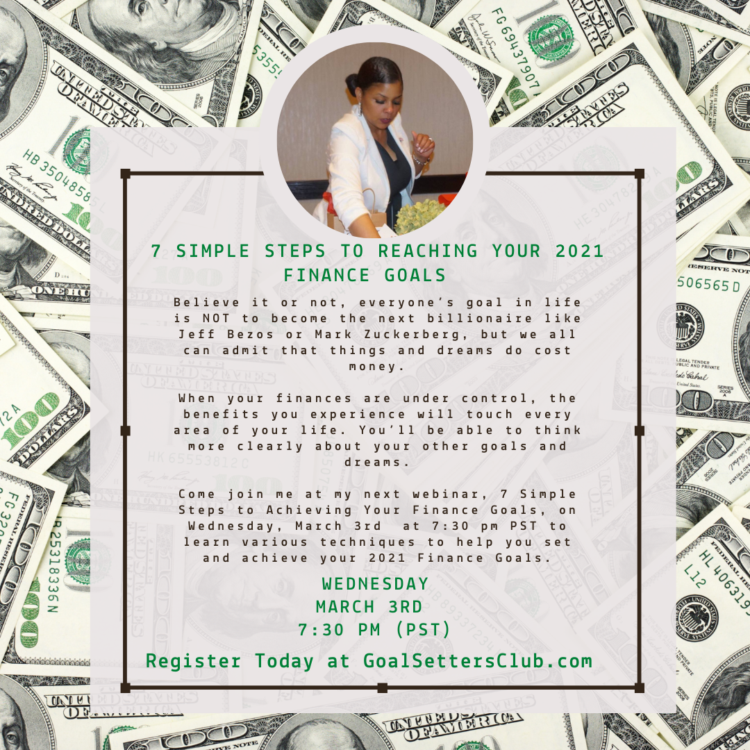 Join Me for Workshop Wednesday! 7 Simple Steps to Reaching Your 2021 Finance Goals