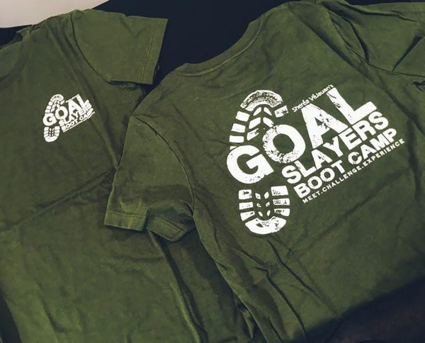 Green Goal Slayers Boot Camp Tee!