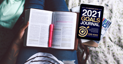 Goals and God: 2 Book Pk: 2021 Goals Journal & Copy of Coffee, Candlelight & Conversations With God