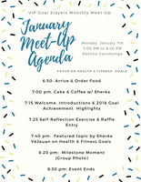 Monthly Meet-Up: January  Edition - Health & Fitness Goals