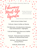 Monthly Meet-Up: February Edition - Relationship  Goals
