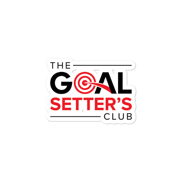 The Goal Setter's Club Bubble-free stickers