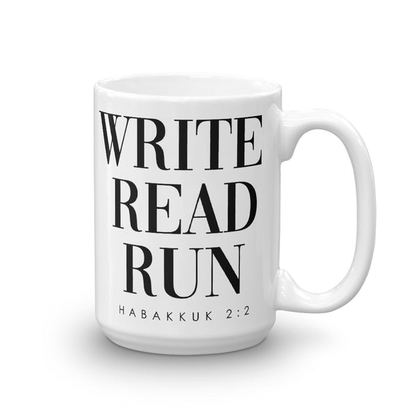 Write. Read. Run - Mug