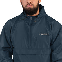 I Accept Embroidered Champion Packable Jacket