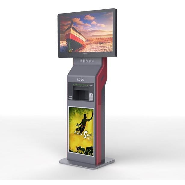 OPT18 Free Standing Charging Station With Large Format Digital Screen
