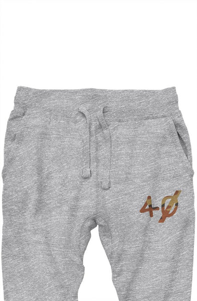 Grey camo embroided joggers