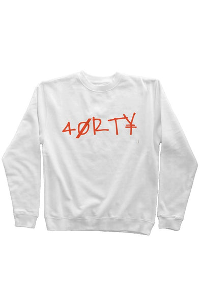 40RTY Orange Sweatshirt (White)