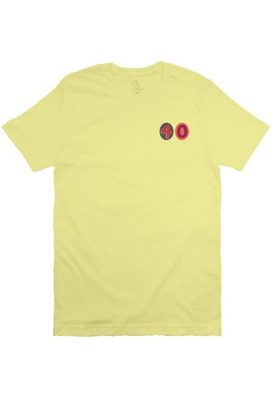 "40 Embroider ""Vintage Style"" Tee (Yellow)"