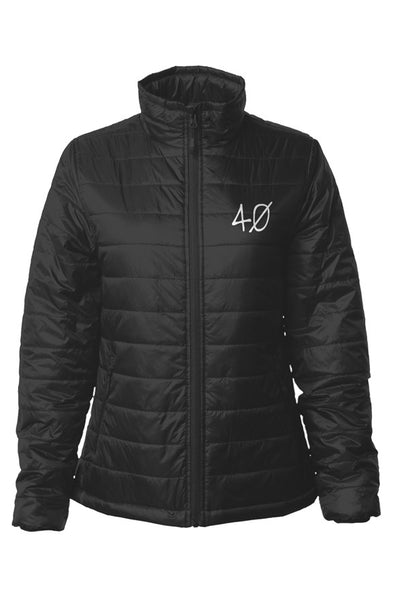 40 Embroided Puffer Jacket (Womens)
