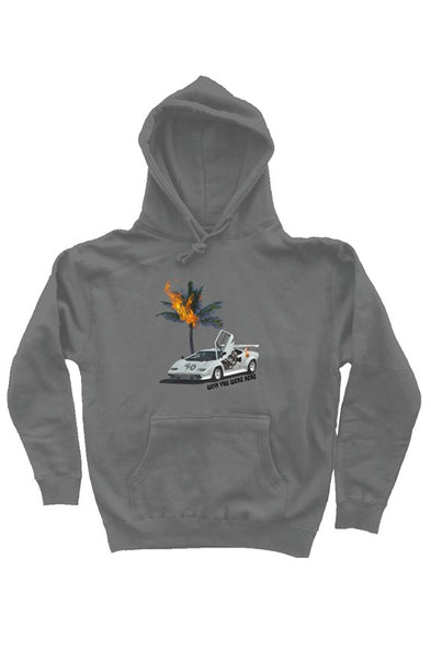 Wish you were here hoodie gray