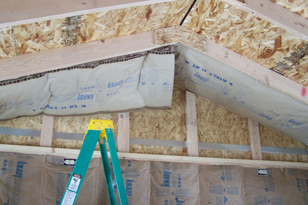 ceiling insulation going up