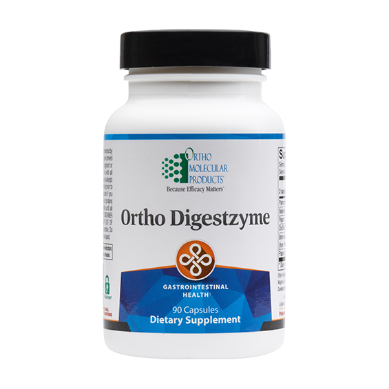 Orthomolecular - Digestzyme - Full Strength Digestive Enzyme Support - Betaine HCL - Ox Bile - Pepsin - Pancreatin