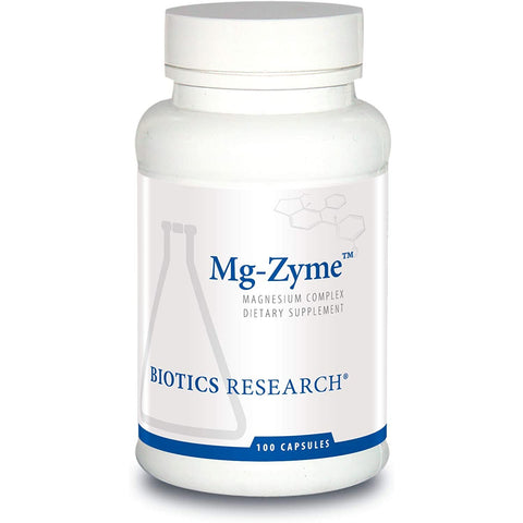 Biotics Research - Mg-Zyme - Source of mixed mineral magnesium chelates - Aspartate, Glycinate, Gluconate
