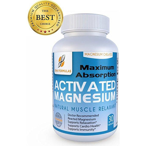 DNA Formulas Advanced Magnesium - 60 Capsules - Magnesium Citrate, Glycinate and Malate - Patented Delivery System for Maximum Absorption with Minimum Side Effects - Improves Muscle Energy & Relaxation