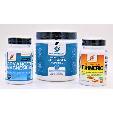 Inflammation Bundle: Bioactive Collagen Peptides, Advanced Magnesium, Activated Turmeric