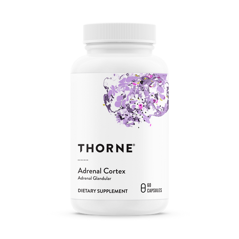 Thorne - Adrenal Cortex - Promotes Adrenal Health by Supporting the Stress Response with Bovine Adrenal Cortex