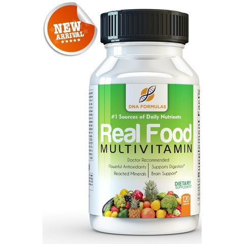 DNA Formulas Whole Food Multivitamin - 120 Capsules - Enhanced Bioavailable Wholefood Multivitamin for Men & Women - No Artificial Colors, Sugars or Preservatives - Activated Mineral Rich Vitamins