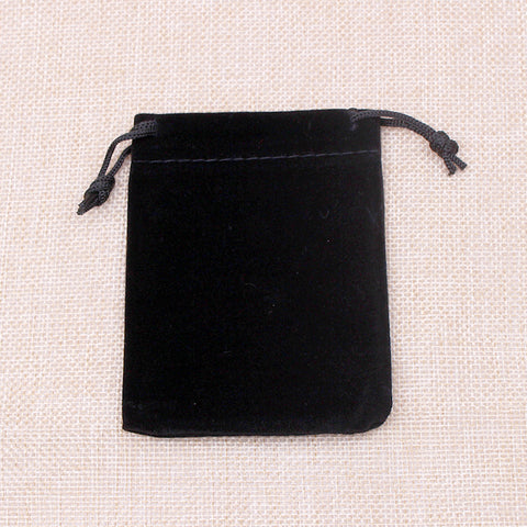 Black Jewelry Velvet Pouch