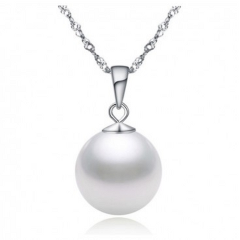 925 Sterling Silver Elegant Shell Pearl Necklace