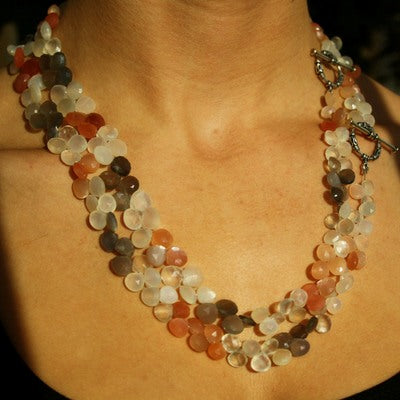 Moonstone Briolette Necklace