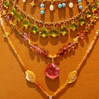 Colorful Semi-Precious Gem stone necklaces