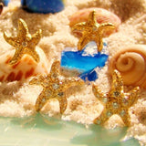 Diamond & 18 kt Yellow Gold Starfish Earrings