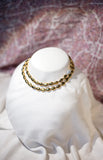 Gold Bead necklace or bracelet with magnet CZ clasp
