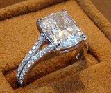 Cushion cut Diamond and Micro pave Ring