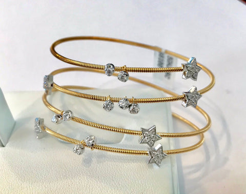 Diamond Star Slinky Bracelet