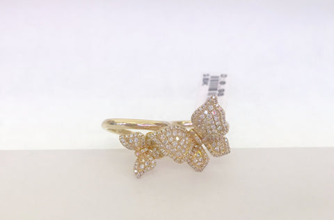 Diamond & Yellow Gold Butterfly Ring