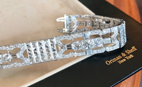 Diamond and Platinum Art Deco Bracelet