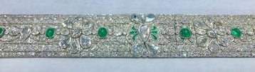 Diamond and Emerald Art Deco Bracelet