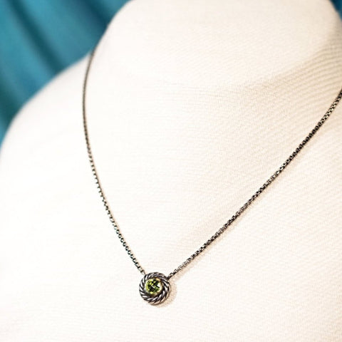 David Yurman Peridot Necklace