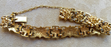 Art Nouveau Diamond and 18 kt yellow gold Bracelet