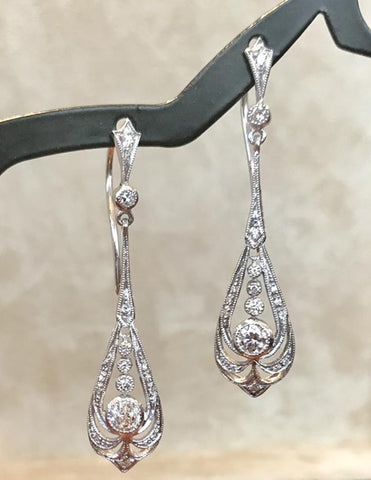 Diamond Art Deco style Earrings