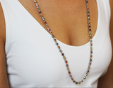 Multicolored Sapphire and Diamond Necklace