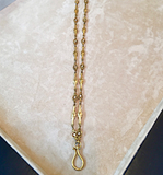 Art Nouveau Diamond and yellow gold chain