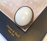 Mother of Pearl and Silver Statement Ring