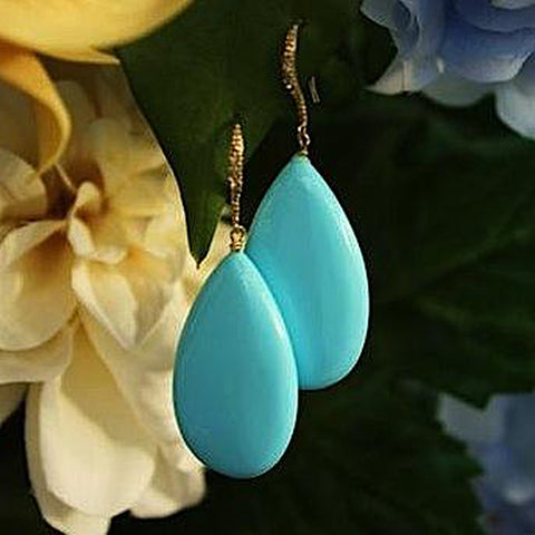 Large Turquoise Drops